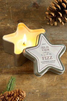 Fizz Star Shaped Tin Candle