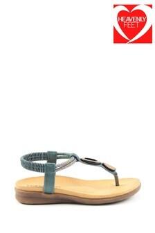 Heavenly Feet Ladies Blue Premium Toe Post Sandals