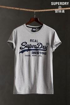 Superdry Vintage Logo Mono Embroidered T-Shirt