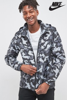 Nike Black Camo Windbreaker Jacket