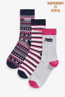 Superdry Multi Socks Three Pack
