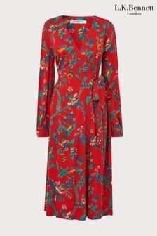 שמלה אדומה דגם Ella של L.K.Bennett