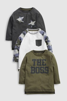 Star/Camo T-Shirts Three Pack (3mths-6yrs)