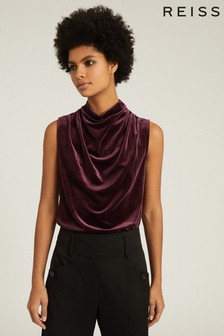 Reiss Lola High Neck Sleeveless Top