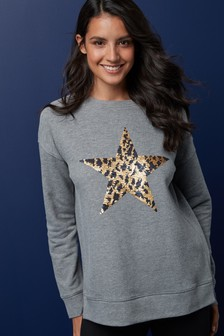 Sequin Star Sweat Top