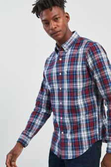 Abercrombie & Fitch Red Check Oxford Shirt
