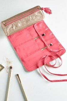 Glitter Make-Up Brush Wrap Bag
