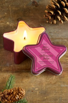 Butterscotch Fudge Star Shaped Tin Candle