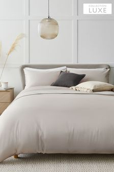 Collection Luxe 400 Thread Count 100% Egyptian Cotton Sateen Duvet Cover And Pillowcase Set