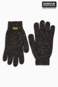 Barbour® International Black Knitted Gloves