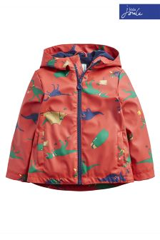 Joules Red Skipper Hooded Rubber Jacket