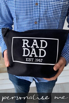 Personalised Rad Dad Wash Bag by Solesmith
