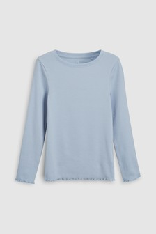 Skinny Rib Long Sleeve Top (3-16yrs)