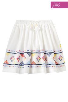 Joules Cream Woven Skirt