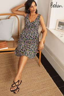 Boden Black Effie Jersey Dress