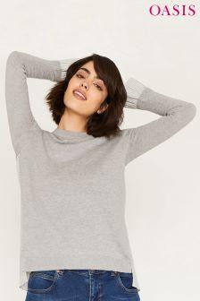 Oasis Stripe Back Black Star Tails Shirt