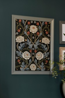 Symmetrical Roses Framed Art