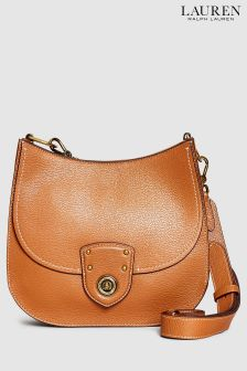 Lauren Ralph Lauren® Tan Leather Satchel Cross Body Bag
