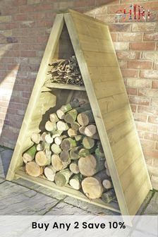 Large Triangular Log Store By Shire