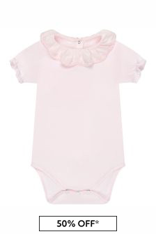 Tartine et Chocolat Baby Girls Pink Cotton Bodysuit