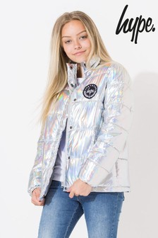 Hype. Silver Padded Jacket