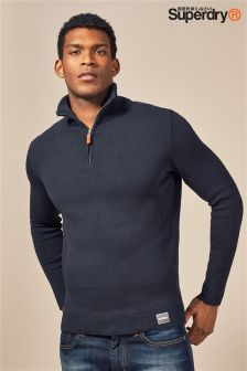 Superdry 1/4 Zip Northside Henley Jumper