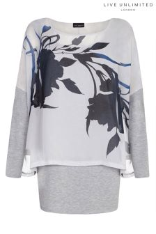 Live Unlimited Shadow Floral Overlay Top