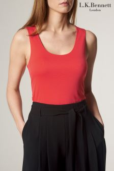 L.K.Bennett Ginny Double Layer Jersey Top