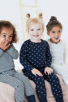 Spot/Stripe Snuggle Pyjamas Three Pack (9mths-8yrs)