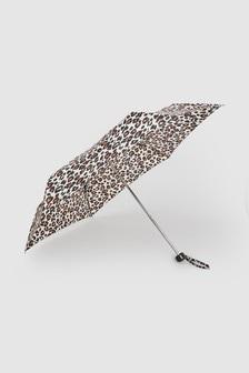 Parapluie à imprimé léopard
