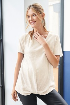 Maternity Sequin Top