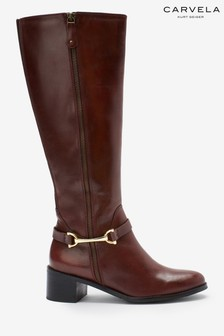 Carvela Comfort Waffy Snaffle Zip Tall Boots