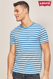 Levi's® Blue Stripe Sunset Pocket T-Shirt