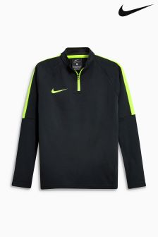 Nike Black Volt Academy Drill Top
