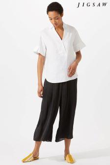 Jigsaw Black Crocus Drape Gathered Trouser