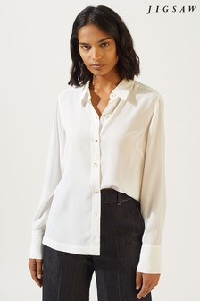 Jigsaw Cream Silk Shirt