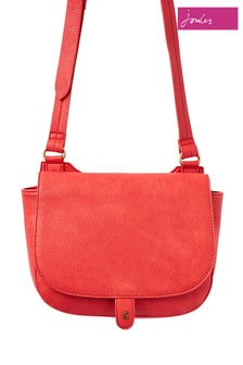 Joules Red Kelby Bright Cross Body Saddle Bag