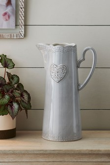 Large Heart Ceramic Jug
