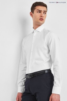 Tommy Hilfiger White Tailored Core Stretch Oxford Shirt