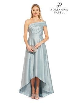Vestido largo color azul Mikado de Adrianna Papell