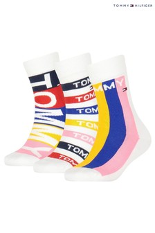 Tommy Hilfiger Red Socks 3 Pack Gift Box