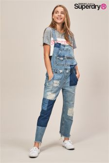 Superdry Boyfriend Patch Work Dungaree