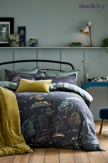 Dot & Ivy Forest Blue Bed Set