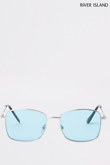 River Island Gold Turquoise Lens Sunglasses