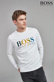 BOSS Flock Logo Sweatshirt