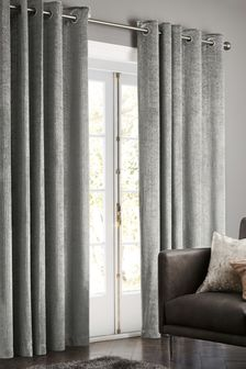 Glitter Stripe Eyelet Curtains