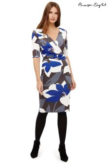 Phase Eight Blues Lana Print Dress