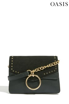 Oasis Black Serena Studded Cross Body Bag
