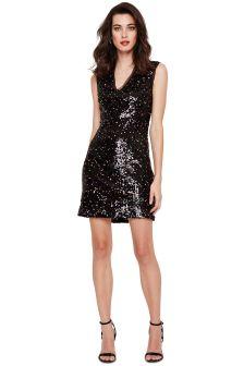 Damsel In A Dress Multi Albanie Neon Sequin Dress