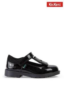 4546e118f6 Kickers® Black Lachly Patent Bow Strap Shoe